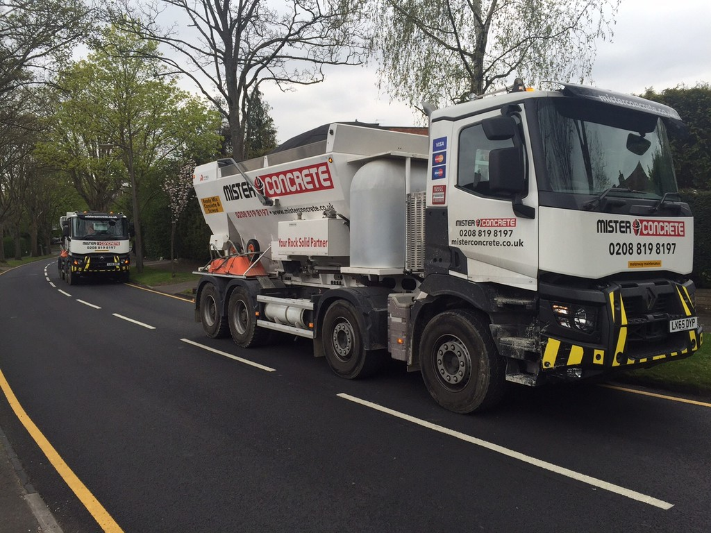Concrete delivery for a double storey extension in Sutton