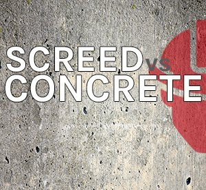 The difference between screed and concrete