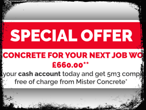 Free Concrete for Your next job worth £660