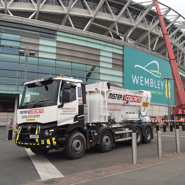 Ready mix concrete delivery in Wembley
